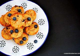 Blaubeer Mandel Muffins mit Kokos