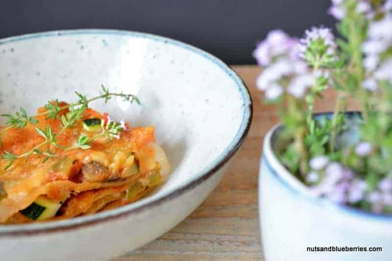 Gemüse Lasagne mit Cashew Creme