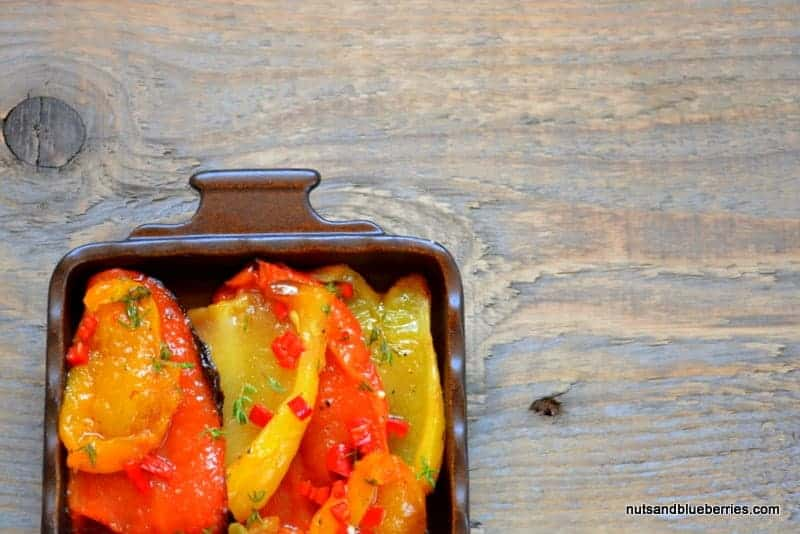 Marinierte Paprika mit Zitronenthymian