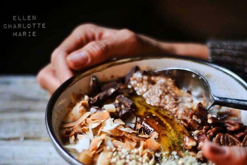 Gäste Rezept: Zimt Buchweizen Hafer Porridge