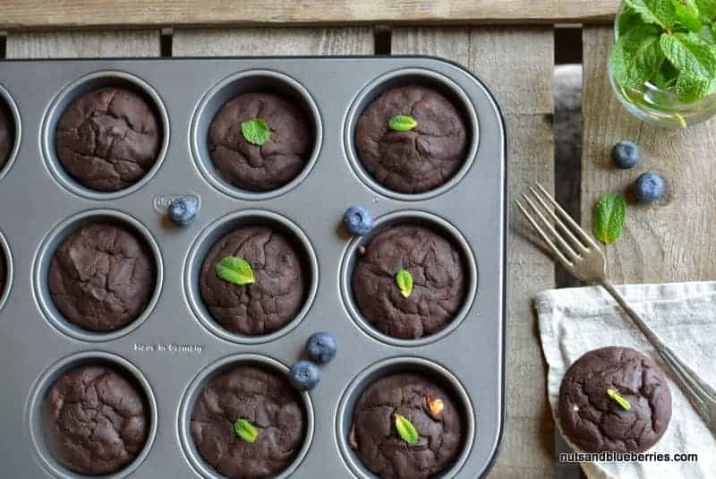 Vegane Schokoladen Muffins