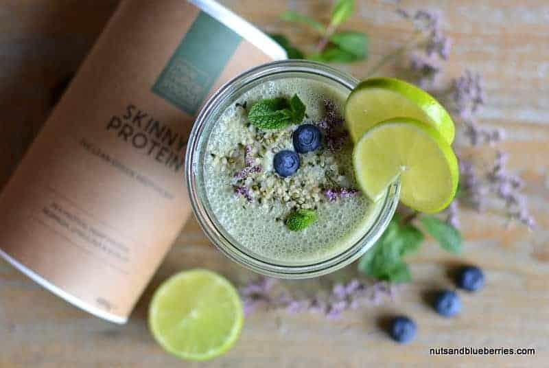 Skinny Protein Smoothie mit Limette