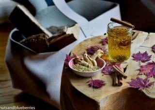 Heilender Ginseng Tee gegen Kopfschmerzen, Migräne oder einfach zum Entgiften