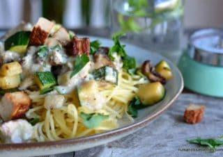 Cremige vegane Spaghetti Carbonara