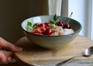 Die Frühstücksbasis: Cashew Creme und Mandelmus