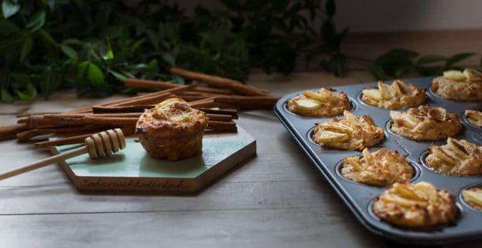 Entschleunigen mit saftigen Apfel Joghurt Muffins