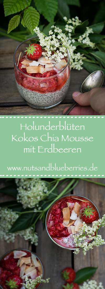 2017-06-19 Holunderblüten Chia Pudding mit Erdbeeren