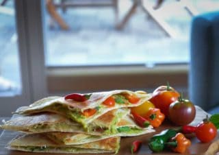 Avocado Chili Quesadillas
