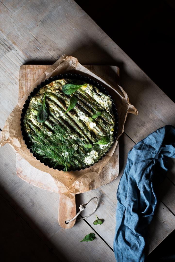 Grüne Spargel Frittata