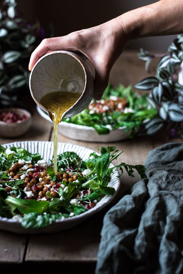geröstete Kichererbsen Salat