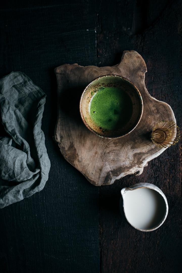 Matcha Latte Zubereitung