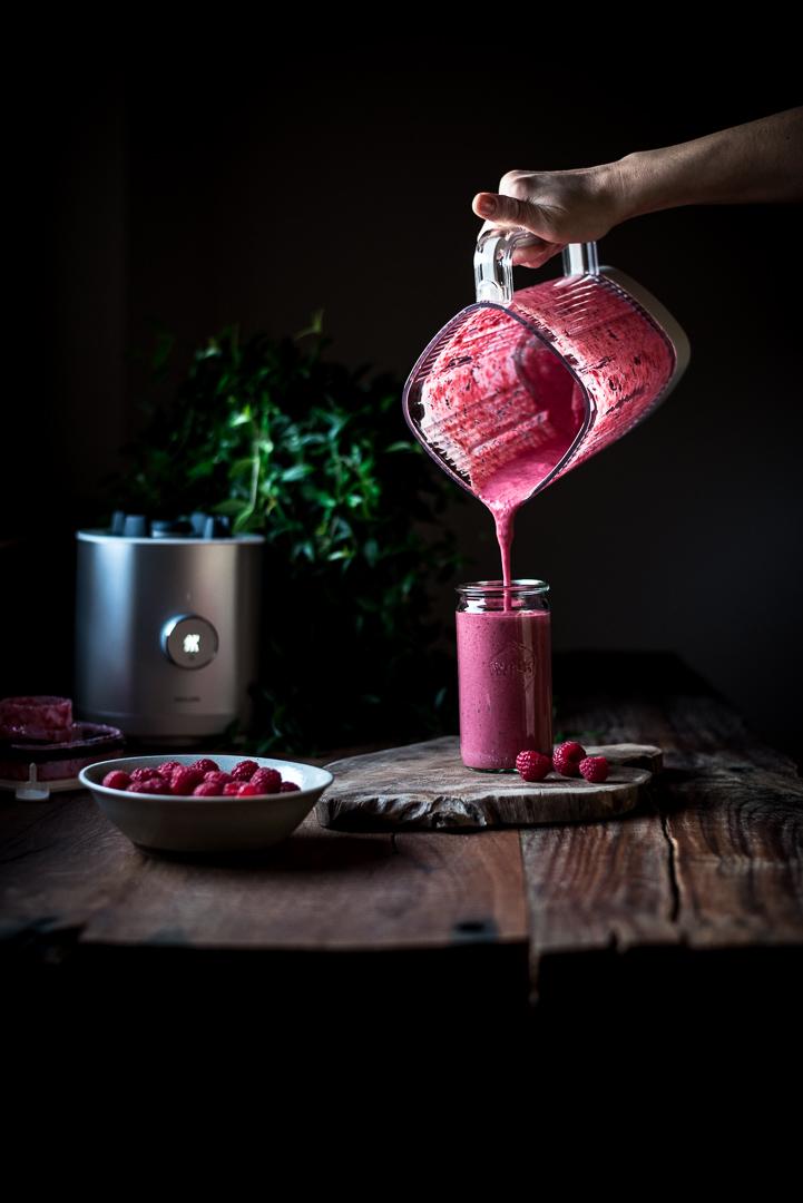 Himbeer Smoothie mit Jogurt