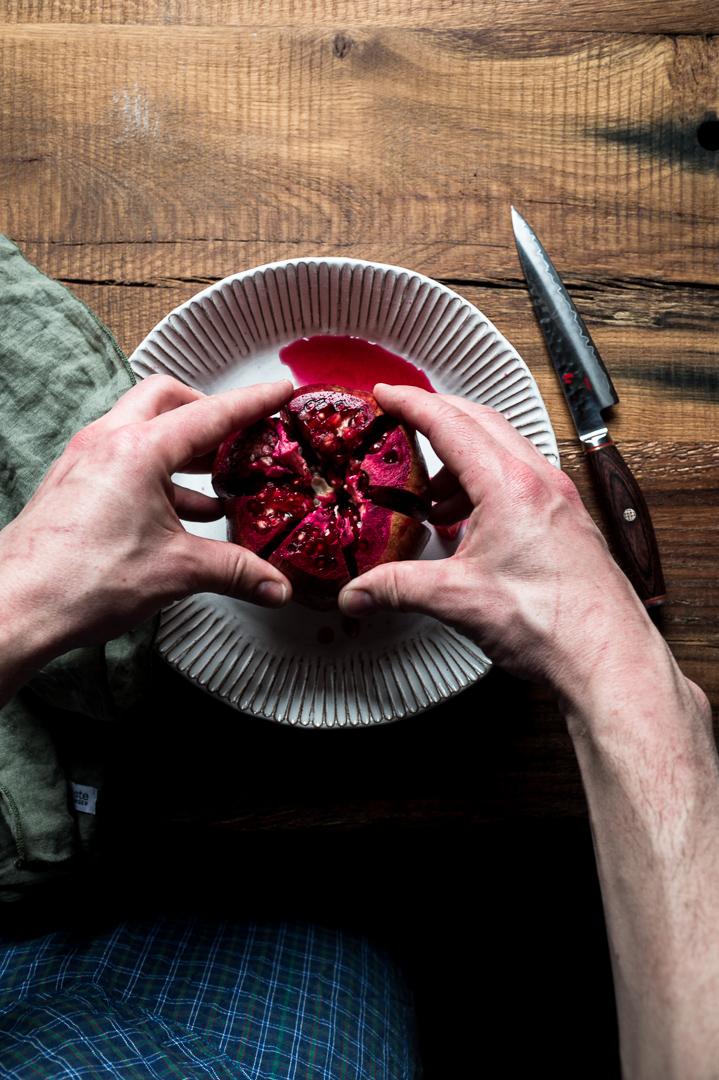 Granatapfel öffnen