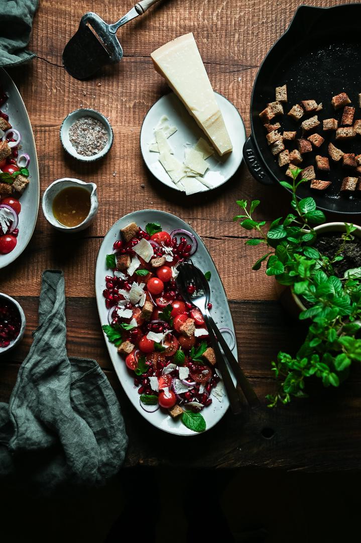 Granatapfel Salat Food Fotografie
