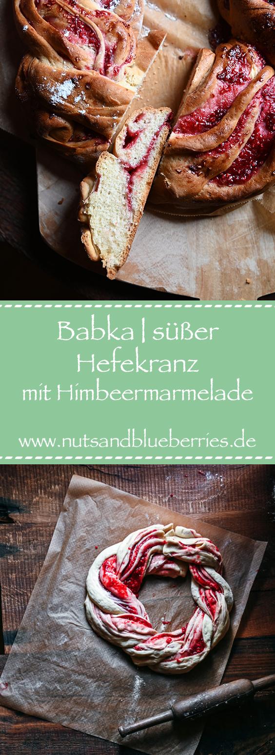 babka mit Himbeeren Hefekranz Hefezopf
