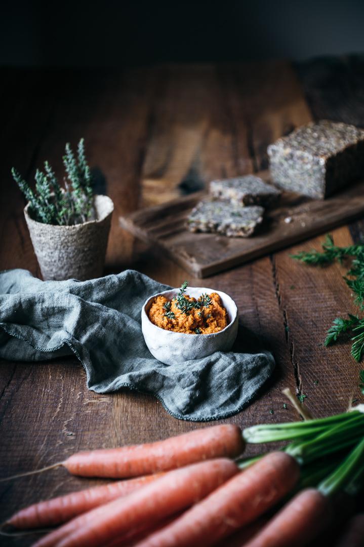 Möhren-Tomaten-Dip Food Fotografie