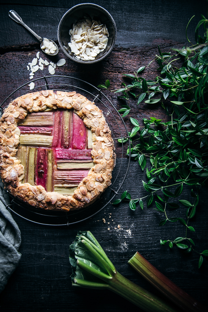 Rhabarber Galette Food Fotografie