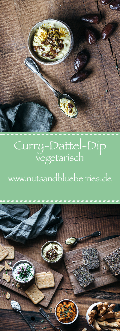 Curry-Dattel-Dip Food Fotografie