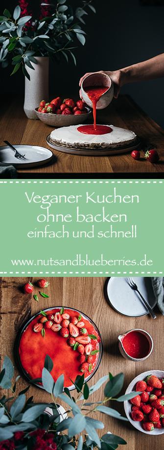 Veganer Kuchen ohne backen