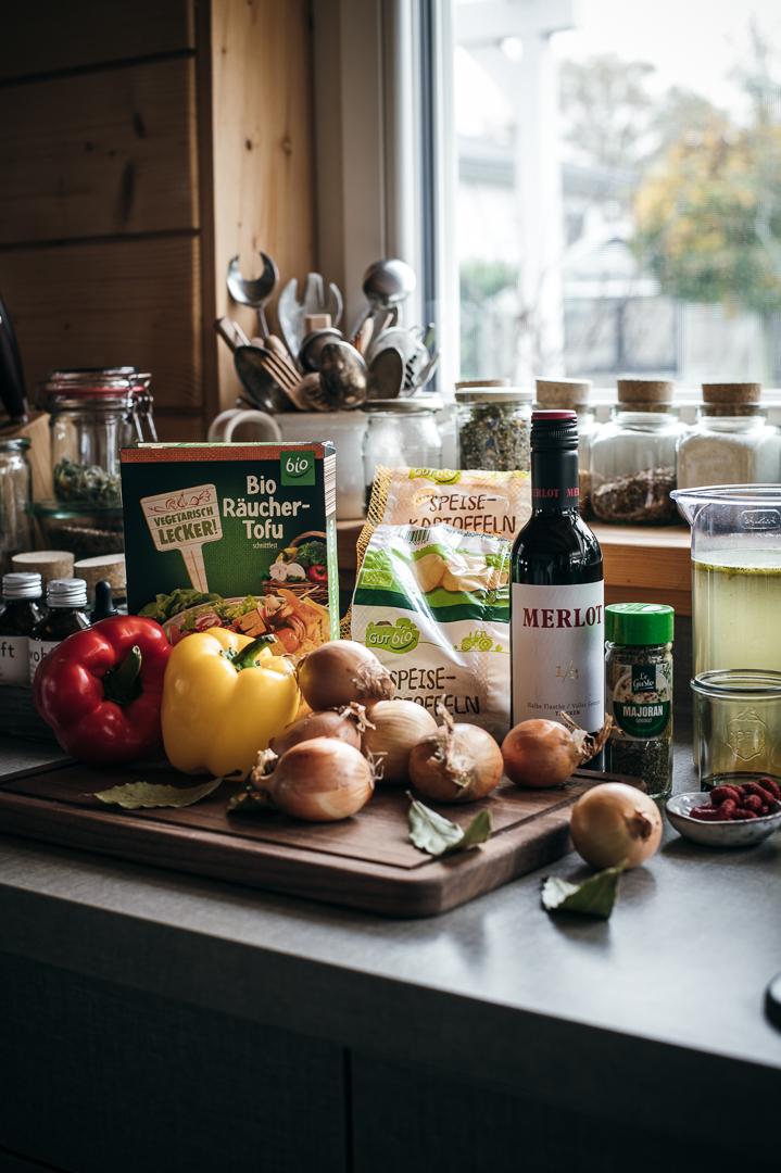 vegetarisches Gulasch