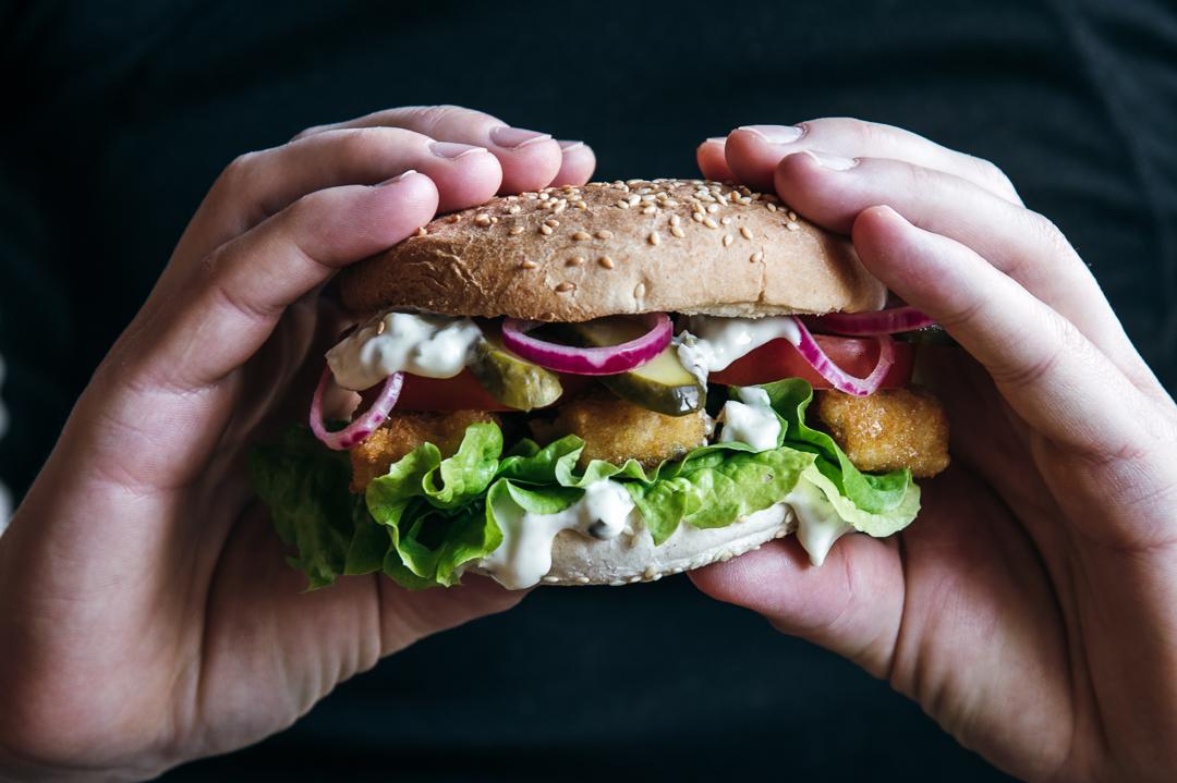 Fischstäbchen Burger vegan